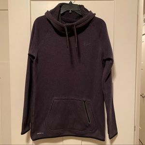 Nike Therma-Fit Sweater Fleece Black Hoodie Large